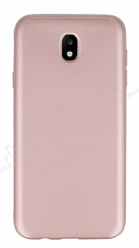 Samsung Galaxy J5 Pro 2017 Mat Rose Gold Silikon Kılıf