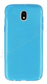Samsung Galaxy J5 Pro 2017 Ultra İnce Şeffaf Mavi Silikon Kılıf