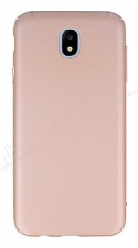 Samsung Galaxy J5 Pro 2017 Tam Kenar Koruma Rose Gold Rubber Kılıf
