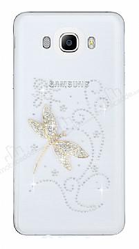 Samsung Galaxy J7 2016 Taşlı Yusufçuk Şeffaf Silikon Kılıf