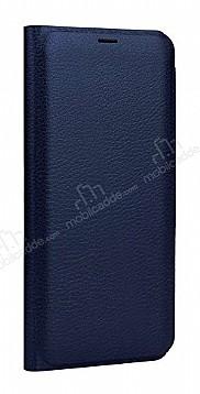 Samsung Galaxy J7 Max Cüzdanlı Yan Kapaklı Lacivert Deri Kılıf
