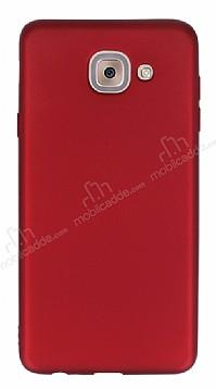 Samsung Galaxy J7 Max Mat Bordo Silikon Kılıf