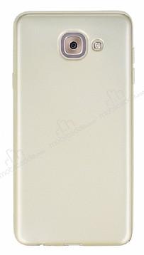 Samsung Galaxy J7 Max Mat Gold Silikon Kılıf