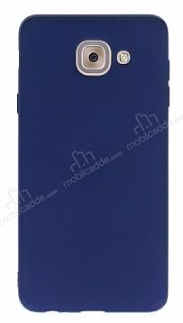 Samsung Galaxy J7 Max Mat Lacivert Silikon Kılıf