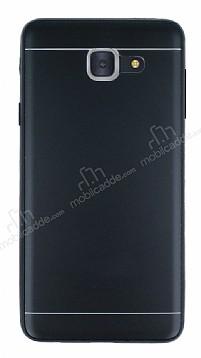 Samsung Galaxy J7 Max Silikon Kenarlı Metal Siyah Kılıf