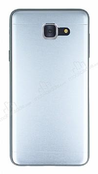 Samsung Galaxy J7 Max Silikon Kenarlı Metal Silver Kılıf