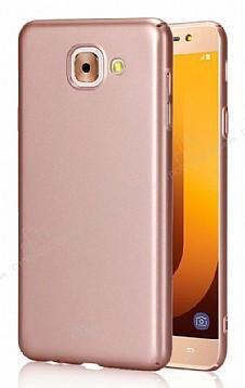 Samsung Galaxy J7 Max Tam Kenar Koruma Rose Gold Rubber Kılıf