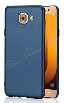 Samsung Galaxy J7 Max Tam Kenar Koruma Lacivert Rubber Kılıf