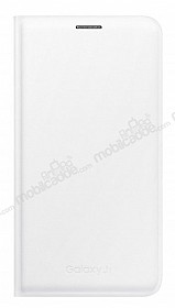 Samsung Galaxy J7 Orjinal Flip Wallet Beyaz Kılıf