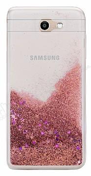 Samsung Galaxy J7 Prime / J7 Prime 2 Simli Sulu Rose Gold Rubber Kılıf