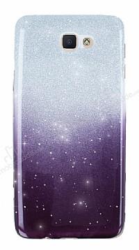 Samsung Galaxy J7 Prime Simli Siyah Silikon Kılıf
