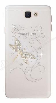 Samsung Galaxy J7 Prime Taşlı Yusufçuk Şeffaf Silikon Kılıf
