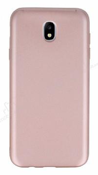 Samsung Galaxy J7 Pro 2017 Mat Rose Gold Silikon Kılıf