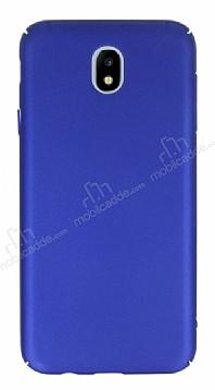 Samsung Galaxy J7 Pro 2017 Tam Kenar Koruma Mavi Rubber Kılıf