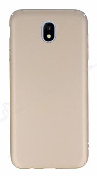 Samsung Galaxy J7 Pro 2017 Tam Kenar Koruma Gold Rubber Kılıf