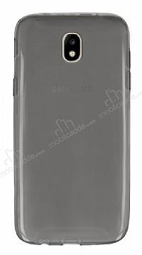 Samsung Galaxy J7 Pro 2017 Ultra İnce Şeffaf Siyah Silikon Kılıf