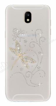 Samsung Galaxy J7 Pro 2017 Taşlı Yusufçuk Şeffaf Silikon Kılıf