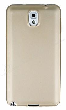 Samsung Galaxy Note 3 Mat Gold Silikon Kılıf