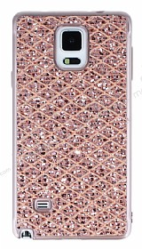 Samsung Galaxy Note 4 Simli Kumaş Rose Gold Silikon Kılıf