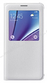 Samsung Galaxy Note 5 Orjinal Pencereli View Cover Beyaz Kılıf