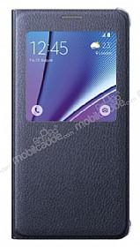 Samsung Galaxy Note 5 Orjinal Pencereli View Cover Siyah Kılıf