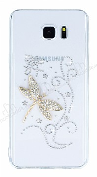 Samsung Galaxy Note 5 Taşlı Yusufçuk Şeffaf Silikon Kılıf