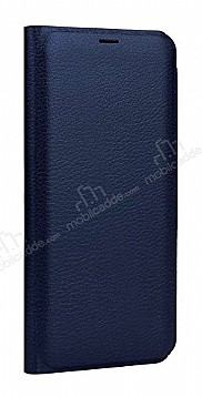 Samsung Galaxy Note 8 Cüzdanlı Yan Kapaklı Lacivert Deri Kılıf