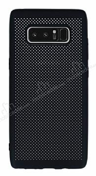 Samsung Galaxy Note 8 Delikli Mat Siyah Silikon Kılıf