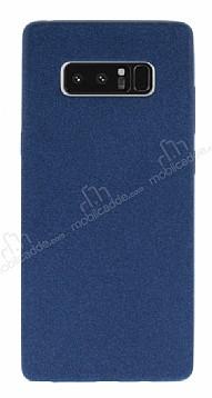 Samsung Galaxy Note 8 Kadife Dokulu Lacivert Silikon Kılıf