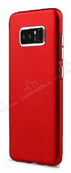 Samsung Galaxy Note 8 Metal Kamera Korumalı Kırmızı Silikon Kılıf