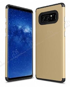 Samsung Galaxy Note 8 Metal Tuşlu Ultra Koruma Gold Kılıf