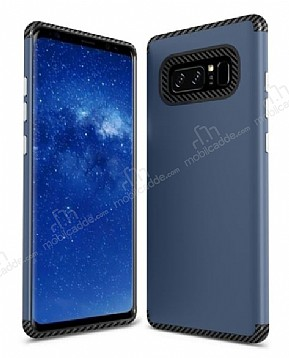 Samsung Galaxy Note 8 Metal Tuşlu Ultra Koruma Lacivert Kılıf