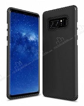 Samsung Galaxy Note 8 Metal Tuşlu Ultra Koruma Siyah Kılıf