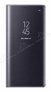 Samsung Galaxy Note 8 Orjinal Clear View Uyku Modlu Mor Kılıf