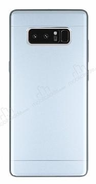 Samsung Galaxy Note 8 Silikon Kenarlı Metal Silver Kılıf