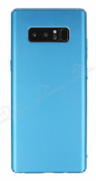 Samsung Galaxy Note 8 Tam Kenar Koruma Turkuaz Rubber Kılıf