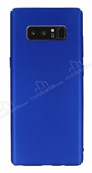 Samsung Galaxy Note 8 Tam Kenar Koruma Mavi Rubber Kılıf