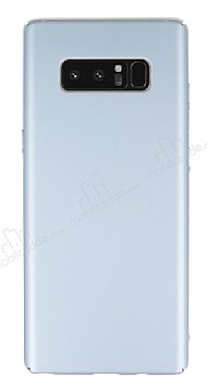 Samsung Galaxy Note 8 Tam Kenar Koruma Silver Rubber Kılıf
