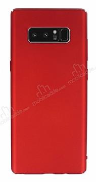 Samsung Galaxy Note 8 Tam Kenar Koruma Kırmızı Rubber Kılıf