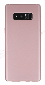 Samsung Galaxy Note 8 Tam Kenar Koruma Rose Gold Rubber Kılıf