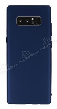 Samsung Galaxy Note 8 Tam Kenar Koruma Lacivert Rubber Kılıf