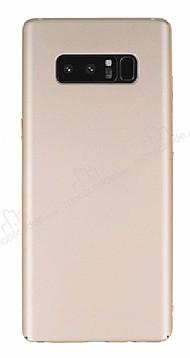 Samsung Galaxy Note 8 Tam Kenar Koruma Gold Rubber Kılıf