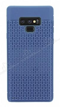 Samsung Galaxy Note 9 Delikli Lacivert Silikon Kılıf