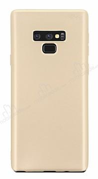 Samsung Galaxy Note 9 Mat Gold Silikon Kılıf