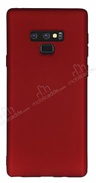 Samsung Galaxy Note 9 Mat Kırmızı Silikon Kılıf