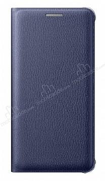 Samsung Galaxy On7 Cüzdanlı Yan Kapaklı Lacivert Deri Kılıf