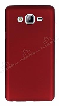 Samsung Galaxy On7 Mat Kırmızı Silikon Kılıf