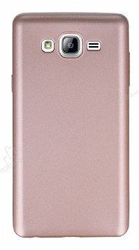 Samsung Galaxy On7 Mat Rose Gold Silikon Kılıf