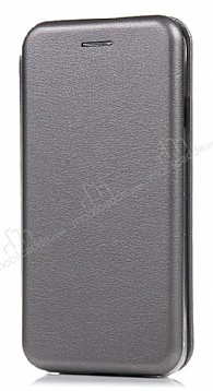 Samsung Galaxy S20 Curve Manyetik Kapaklı Silver Deri Kılıf