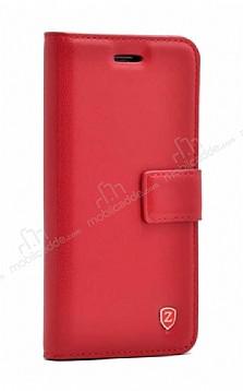 Samsung Galaxy S20 Kapaklı Cüzdanlı Kırmızı Deri Kılıf